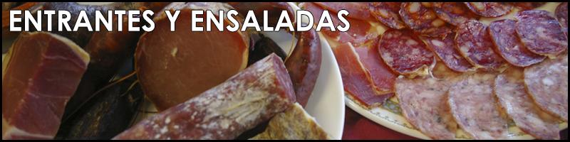 Entrantes y ensaladas restaurante Torrente